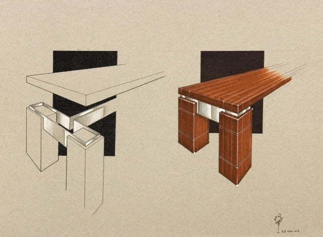 Meubelontwerp en vormgeving interieurarchitect interieurontwerper binnenhuisarchitect bart - Meubelontwerp ...